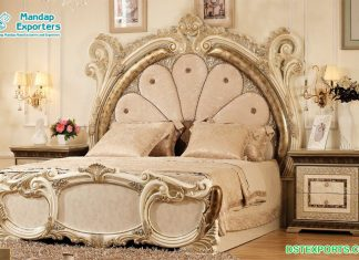 Luxurious High-End Solid Wood King Size Bed