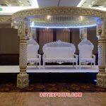 Marvelous White Theme Wedding Ceremony Mandap