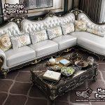 Antique L Shape Sectional Sofa For Living room