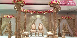 Asian Wedding Anaya Wooden Mandap London
