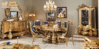 Baroque Style Teak Wood Dining Room Furniture