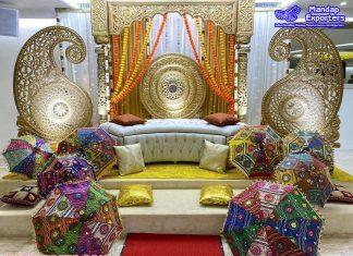 Beautiful South Indian Theme Mehendi Stage