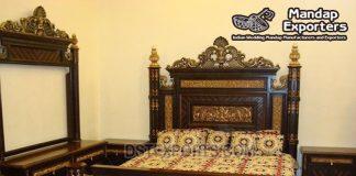 Best Teak Wooden Carved Bedroom Furniture Set