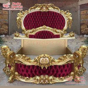 Buy Exclusive Teak Wood Maharaja Bed