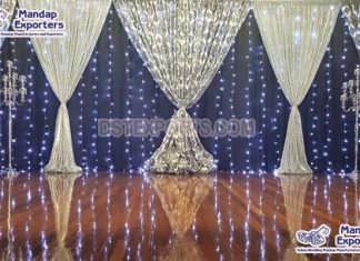 Buy LED Lighted Wedding Backdrop Curtains
