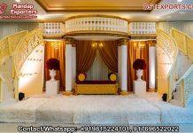 Classic White Castle Theme Wedding Stage