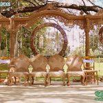Creative Garden Theme Wedding Open Mandap