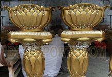 Fiber Decorative Flower Pots For Wedding