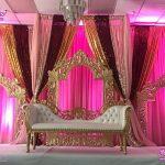 Golden Mehrab Fiber Frames For Wedding Decor