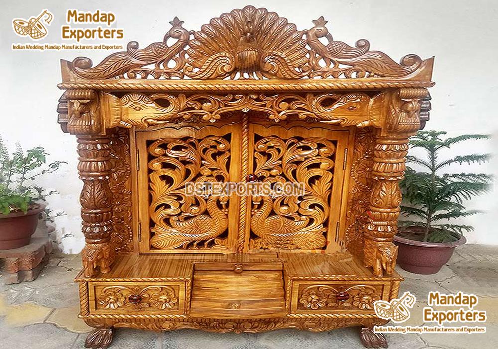 Handmade Indian Teak Wood Handicraft Temples