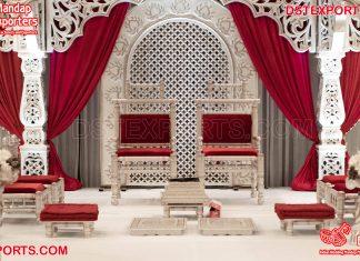 Indian Mandap Decor Wedding Vidhi Chairs