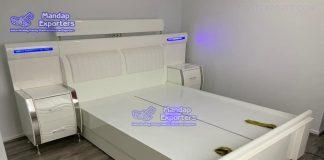Latest PU Finish Modern Beds