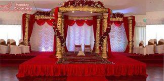 Low Budget Wedding Fiber Carved Mandap