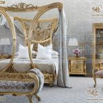 Luxurious Wooden Carved Canopy Bedroom Furniture