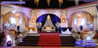 Majestic Indian Wedding Reception Stage Decor