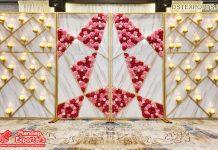 Modern Wedding Candle Decor Backdrop Walls