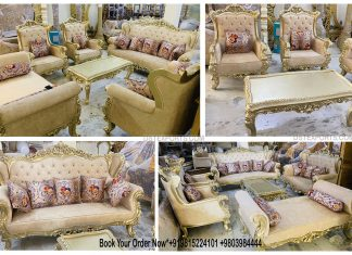 Premium Quality Handicraft Living Room Sofa Set