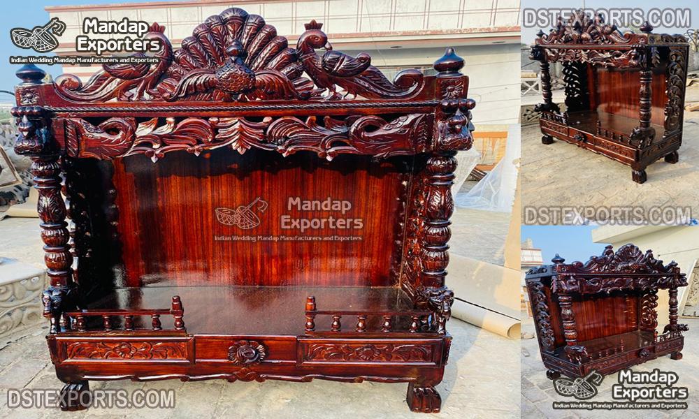 Premium Quality Teak Wood Mandir Manufacturer
