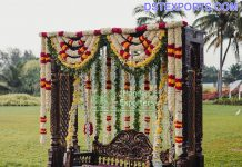 Prettiest Outdoor Mehndi Decor Swing Jhula
