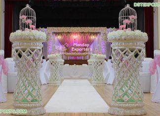 Romantic Wedding Walkway Decor Pillars
