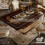 Royal Antique Dining Table And Chairs Set