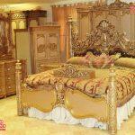 Royal Gold Hand Carved Bedroom Furniture