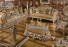 Royal Teak Carved Living Sofa Set Design