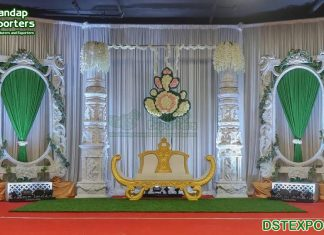 South Indian Style Marriage Stage Decoration