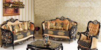Trendy Teak Hand Carved Living Room Furniture