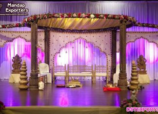 Wedding Wooden Carved Aesthetic Mandap UK