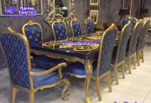 Unique French Style Carved Dining Furniture Set