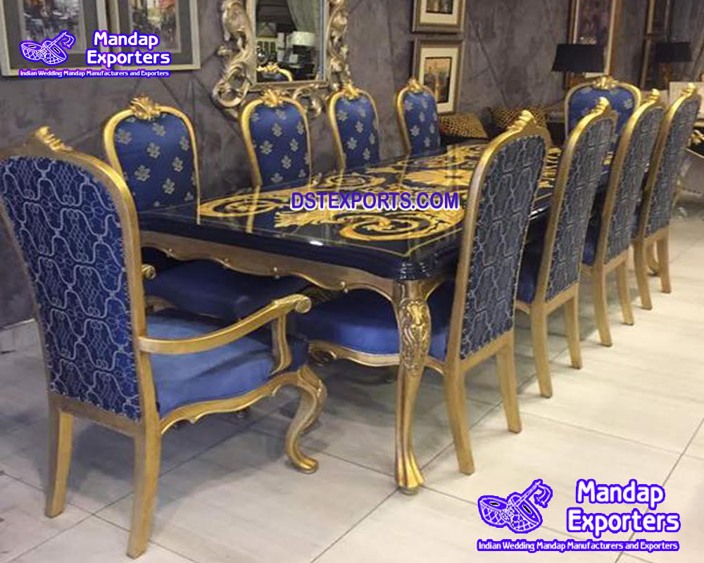 Royal Baroque Dining Table & Chair Set