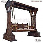 Antique Style Teak Wooden Indoor Swing