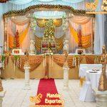 Attractive Hindu Wedding Crystal Mandap Decoration