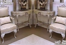 Buy Carved Lounge Chairs in Silver Finish