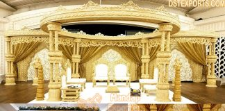 Classy Hand Carved Wedding Wooden Mandap