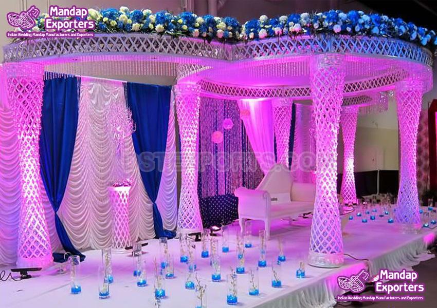 Dazzling Diamond Cut Wedding Mandap Design
