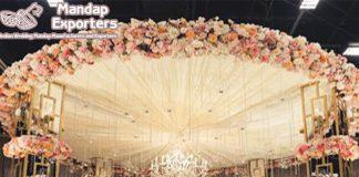 Dazzling Metallic Candle Lit Wedding Mandap