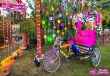 Decorative Rickshaw For Wedding Shoot
