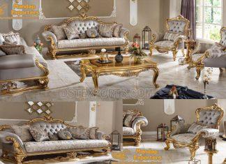 European Royal Wooden Living Room Furniture