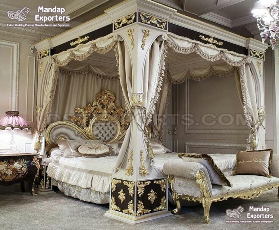 European Style Four Poster Bedroom Set