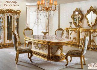 Exclusive Gold Dining Room Furniture Design