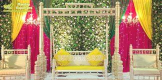 Exclusive Haldi Mehendi Event Sankheda Swing Set