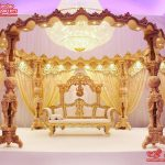 Exclusive Royal Crown Wooden Wedding Mandap