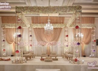 Fascinating Indian Wedding Candle lit Mandap