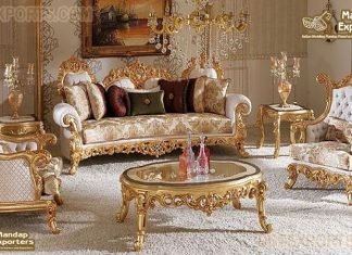French Rococo Style Living Room Sofa Set