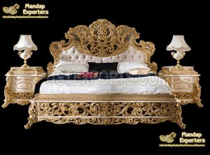 Gorgeous Gold Queen Size Bedroom Set