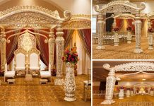 Grand Maharaja Style Wedding Mandap Chicago