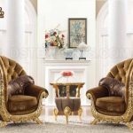 Hand Carved Classy Baroque Style lounge Chairs