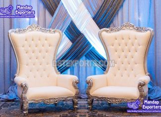 King & Queen Throne Chairs For Events